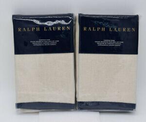 Ralph Lauren Rue Vaneau Ardenfield Cream Blue Border Euro Shams Set Of Two 2