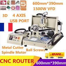 USB 1.5KW VFD 4 Axe 6040 CNC routeur Fraiseuse Gravure gravure Engraver Mill FR