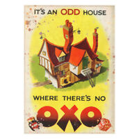 Metal Advertising OXO Beef Cube Sign Kitchen Garden Workshop Vintage Garage Shed