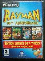 RAYMAN 10TH ANNIVERSARY SEALED FRENCH VERSION PC DVD ROM NEW VIDEO GAME