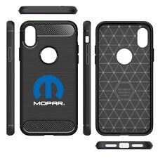 Mopar iPhone X Shockproof Black Carbon Fiber Textures Stripes Cell Phone Case