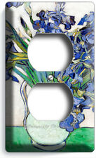 Vincent Van Gogh Irises Vase Flowers Impressionism Art Outlet Plates Room Decor