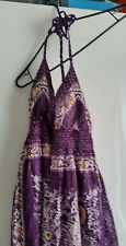 Purple Ethnic Print summer Dress. One Size