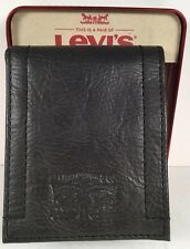 Mens Levis Card Holder Wallet Black NWT