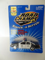 ROAD CHAMPS  POLICE EMERGENCY CAR CHEVROLET CAPRICE  SCALE 1:43