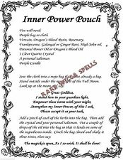 Boost Inner Power Pouch Spell Ritual 1pg Wicca Book of Shadows Pagan Witch Magic