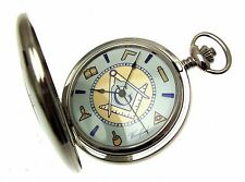 Masonic Pocket Watches for Men Fob Watch Chrome