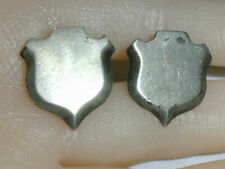 VINTAGE C MOLINA MEXICAN STERLING SHIELD SHAPE CUFF LINKS!