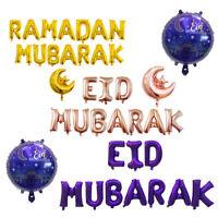 EID Mubarak Rose Gold Letter Foil Balloons for Muslim Islamic Party Decor UK LO