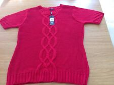M & CO SHORT SLEEVED JUMPER SIZE L RRP £24 IN RED