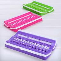 DIY 30 Slots Embroidery Floss Thread Organizer Cross Stitch Needles Holder Tool
