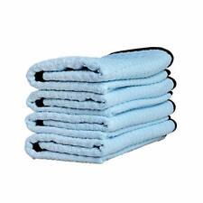 Microfiber Waffle Weave Towel 16 x 24 Light Blue (4 Pack)