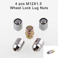 Silver Upgrade Car Wheel Alloy Steel Anti Theft Security Lock Lug Nut Kit(4+1)