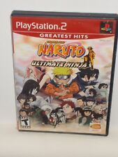 Sony Playstation 2 PS2 Video Game Naruto Ultimate Ninja Greatest Hits
