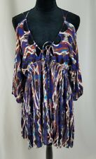 Free People women S Monarch cold shoulder dress plunging neck kimono sleeves