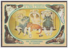 0215 Sao Tome 1981 Katten Cats Year of the child S/S Mnh