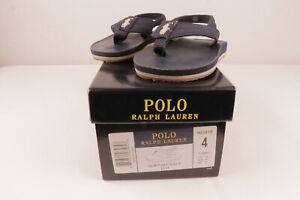 Polo Ralph Lauren Newport Navy  (Leo) Toddlers Size 4 Flip-Flops Sandals