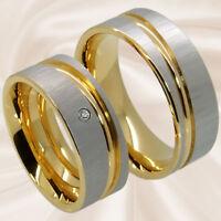 Diamantringe Eheringe Hochzeitsringe Verlobungsringe Partnerringe mit Gravur