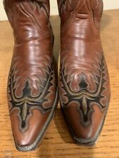 Lucchese Classics Handmade Western Cowboy Boots Snip Toe 9.5 9 1/2 EE