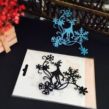 Christmas Deer Cutting Dies Stencil DIY Scrapbooking Decor Embossing Xmas Gift