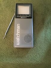 New listing Vintage Sony Watchman Hand Held Portable Tv