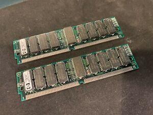 2x 16MB 4Mx36 EDO QC Parity 72-pin 60ns SIMM Memory 32MB PC RAM Parity 4x36