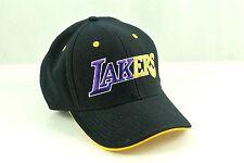 Los Angeles LA LAKERS Two Tone Flex Yellow Under-Bill Black Hat Cap NBA L / XL