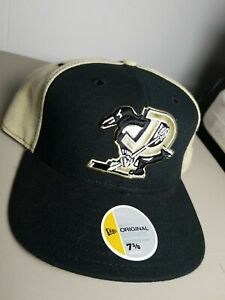 Pittsburgh Penguins MADE USA WOOL BLEND NHL Cap Hat Fitted 7 3/8 New Era