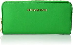 Michael Kors NS Jet Set Saffiano Leather Zip Around Travel Wallet NEW with TAG