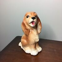 Vintage Ceramic Cocker Spaniel Pot Planter