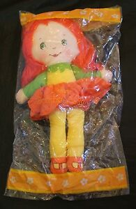 Avon Scamper Lily Plush Doll Toy Vintage Orange Green New in Pkg 1986 Yarn Hair