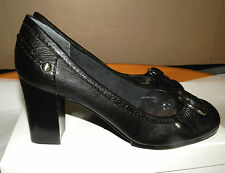 NINE WEST (UK8W / EU41W / US10W) BLACK LEATHER MEDILLIN SHOES - NEW