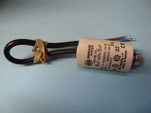 8uF Motor Run Capacitor 450V, Twin Cable