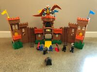 Fisher Price Imaginext  Medieval Castle Playset With Pterodactyl and Accessories