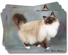 Birman Cat 'Love You Mum' Picture Placemats in Gift Box, AC-30lymP
