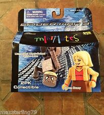 Marvel Minimates UNMASKED SPIDER-MAN & GWEN STACY  Movie Wave 18 3 Avengers