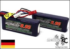 2x Turnigy nano-tech 950mah 3S 25~50C Lipo Akku NEU 11,1V Blade 200 SR X 200 S