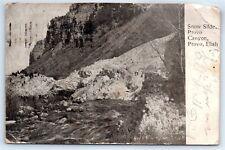 Postcard UT Provo Canyon Snow Slide Vtg Photo View A1