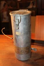 1940-50's Military Coal Mining Aluminum Tube First Aid Kit Halperin Near Complet