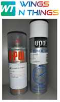 U-POL AEROSOL SPRAY PAINT 400ML AND LACQUER FOR FORD FROZEN WHITE