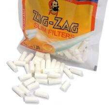 Zig Zag Rolling Paper Slim Filter Tips - 3 Bags of 120 ea
