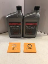 2 Qts - Honda Dual Pump Fluid Ii W/ Washers for 4Wd Crv Crosstour And Element