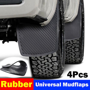 x4 Universal Rubber Front Rear Mudguards Mud Flaps Splash Guards Mudflaps Fender