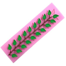DIY Leaves Silicone Lace Mold Mould Sugar Fondant  Cake Decorating Baking Tool