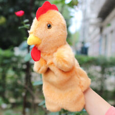 Cute Rooster Hand Puppet Plush Dolls Story Telling Educational Kindergarten Toys