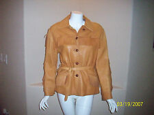 Vintage Milfur 1950's/60's Womens Custom Made Leather Fringe Jacket S/M