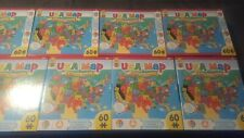 Children Educational USA Map 60 Pieces Kids Puzzle Toy Christmas Gift Game!!!!