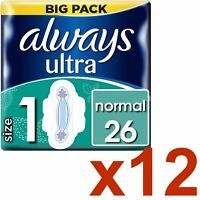Always Ultra Normal Serviettes Hygiéniques Coussinets Taille 1 Aile Femmes
