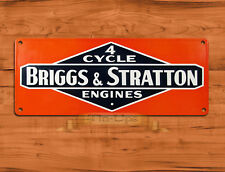 """TIN SIGN """"Briggs and Stratton Engines"""" Lawnmowers  Mancave Wall Decor"""