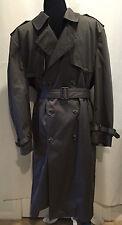 Stratojac Men Gray Removable Lining Winter Rain Trench Over Coat Jacket Sz 44 XL
